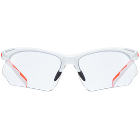 UVEX Sportstyle 802 V Sportglasses white orange/smoke